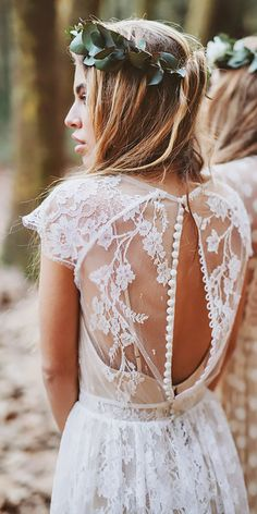 15 Bohemian Wedding Dresses For Charming Brides ❤ a line lace cap sleeve open back bohemian wedding dresses serafin castillo Full gallery: https://weddingdressesguide.com/bohemian-wedding-dresses/