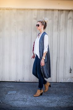 FALL PROPORTIONS: THREE TIPS FOR STYLING A LONG VEST : Elle Apparel waysify