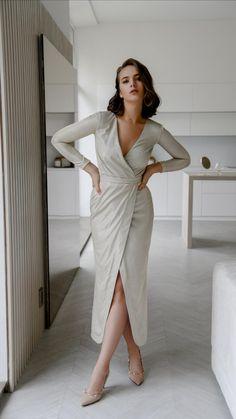 Hands On Hips, Evening Dresses, Wrap Dress, Shoulder Dress, Wedding, Shoes, Fashion, Evening Gowns Dresses, Valentines Day Weddings