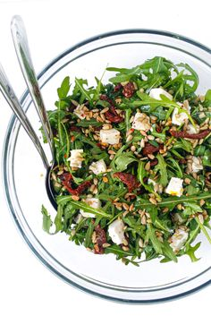 Salad Recipes, Healthy Recipes, Spinach, Healthy Lifestyle, Clean Eating, Food Porn, Food And Drink, Yummy Food, Lunch