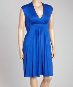 Another great find on #zulily! Royal Blue Sleeveless Dress - Plus #zulilyfinds