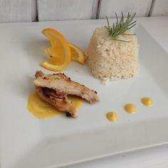 #chicken#rice#orange#orangesouce#timian#fresh#tasty#perfectlunch