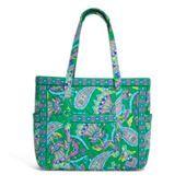 Get Carried Away Tote in Emerald Paisley | Vera Bradley