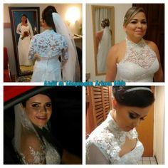 Maquiagem e penteados para noivas. Ateliê de Maquiagem Ariana Melo