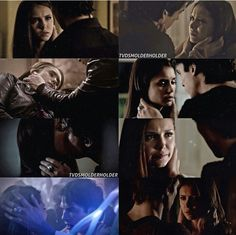 The way Damon holds her face! Ugh the feels!