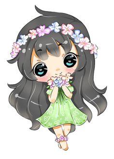 Chibi Fleurette by Marcherin on DeviantArt Chibi Kawaii, Cute Anime Chibi, Kawaii Anime, Chibi Girl Drawings, Cute Kawaii Drawings, Girl Cartoon Characters, Cartoon Art, Chibi Tutorial, Chibi Poses