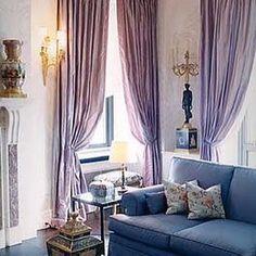 Robert Couturier. #lilac #lavender #mauve #curtains