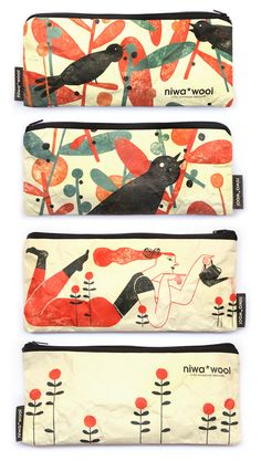 Pencil-cases for Niwa*Wool - Anna Goodson Illustration Agency