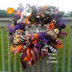 This item is unavailable Halloween City, Halloween Signs, Disney Halloween, Happy Halloween, Halloween Decorations, Halloween Wreaths, Halloween Jack, Fall Wreaths, Mesh Wreaths