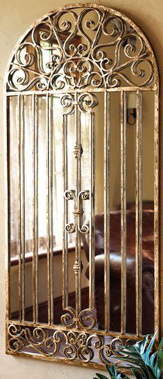 Garden Gate Mirror #rustic