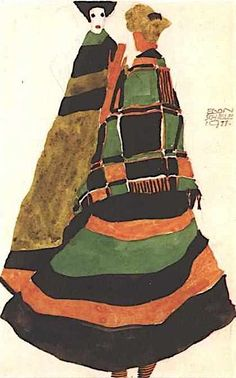 'postcard design' by egon schiele (1911)