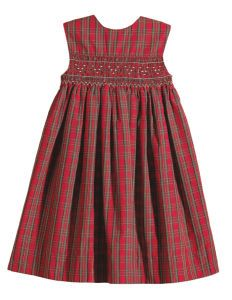 This is a pretty smocked dress, for the holidays!