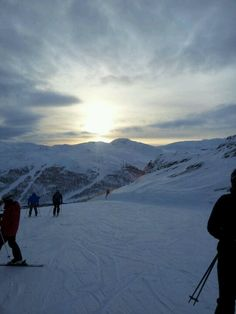 View of a late sunrise, from a Hemsedal ski slope in Norway