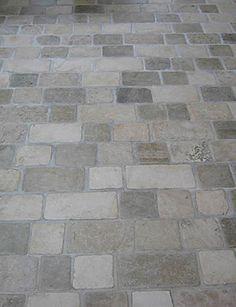 Limestone Tumbled Cobblestone Pavers traditional floor tiles