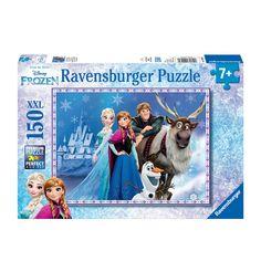 Extra grote Ravensburger puzzel met een leuke afbeelding van Disney Frozen. De puzzel bestaat uit 150 XXL stukjes. Afmeting: puzzel 49 x 36 cm - Disney Frozen De Vrienden in het Paleis, 150st. XXL