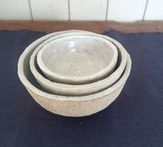 Set of Crank bowls with Ying ching glaze.