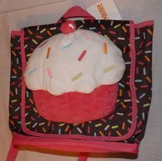 NEW-girls-Gymboree-Cupcake-Plush-Toddler-Size-Backpack
