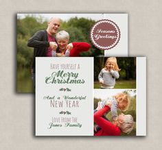 Christmas Card Template photo card instant by PixelsandPine