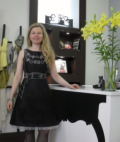 Gabriela Rapaza Ela Diz, dress by Chula