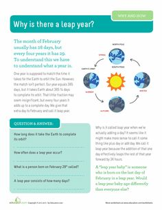 Worksheets: Why is There a Leap Year?
