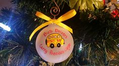 Bus Drivers Hand painted Personalized ornament is a great way to express your thanks for driving your kids to and from school safely all year