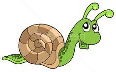Cute snail vector illustration © Klara Viskova (clairev) (#327009 ...