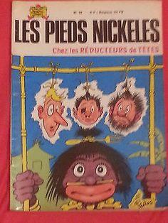 Les Pieds nickelés chez les Réducteurs de têtes - l'album n ° 42 - 1971 Pellos