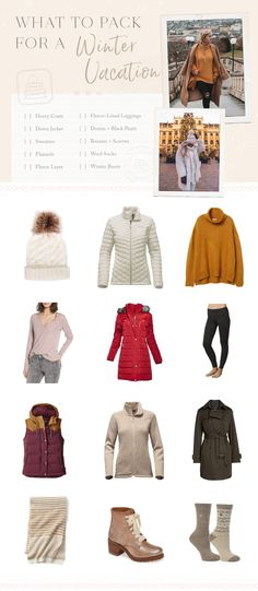Winter Vacation Packing, Packing List For Travel, Travel Tips, Packing Tips, Travel Europe, Travel Checklist, Winter Outfits, Winter Travel Outfit, Travel Outfits