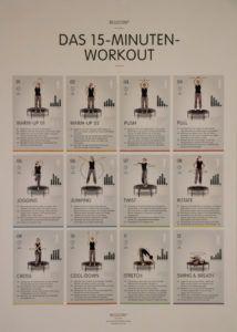 Bewegung im Alltag mit dem 15 Minuten Trampolin Workout
