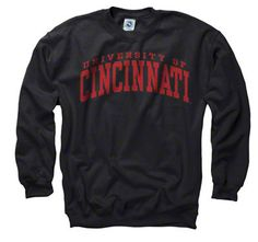 $27.99 Cincinnati Bearcats Black Arch Crewneck Sweatshirt