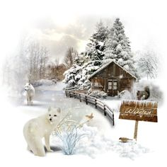 """""""Winter creatures"""" by soofiia on Polyvore"""