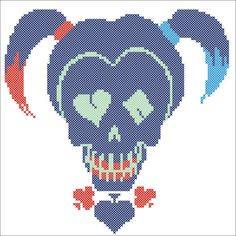 BOGO FREE! HARLEY Quinn Marvel Suicide Squad Comics Character Cross stitch pattern-pdf cross stitch pattern-instant download #167 by Rainbowstitchcross on Etsy
