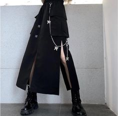 Grunge Outfits, Outfits Casual, Fashion Outfits, Casual Skirts, Short Skirts, Pretty Outfits, Cool Outfits, Mode Sombre, Vetements Clothing