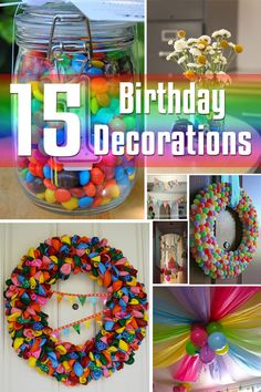 15 Birthday Decorations | Decor for the Holidays
