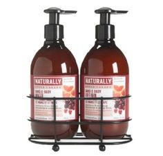 Upper Canada Soap And Candle Naturally Caddy Set,  Cranberry Moro Orange, 2, 12-Ounce Bottle by Upper Canada Soap & Candle. $25.00. Decorate and organize your bathroom, mud room, kitchen, or any room, with this black wire caddy that holds full size bottles of Naturally Hand and Body Wash and Lotion. Since 1969, Upper Canada has been committed to excellence, ingenuity and quality - while also delighting the senses. Made with all natural ingredients; contains no parabens, mi...