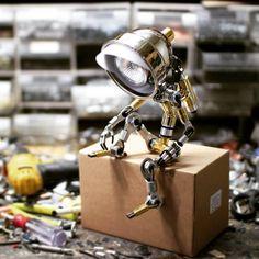 By @602creativelab #robotsaid . . #led #light #robot #steampunkart #arttoy #선물 #인테리어디자인 #coffee #602공작소 #602creativelab