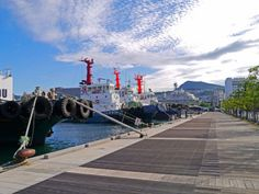Tugs docked by the harbour - Nagasaki Photo Gallery - The Trusted Traveller