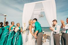 Starfish on arch. Punta Cana Destination Wedding  Our first  2015's wedding at  Huracan Cafe!