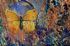 Photo about Encaustic and mixed media painting by artist Kim McCarthy. Image of violet, insect, orange - 29991343 Encaustic Painting, Artist Painting, Banksy Art, Graffiti, Mixed Media Painting, Mixed Media Art, Butterfly Gold, Gold Filigree, Science Nature