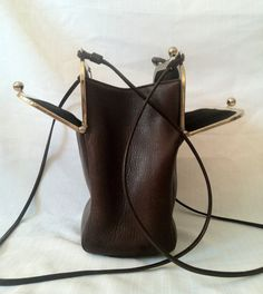 Brown Coach Bonnie Cashin 1960s double kisslock by CashinCarry