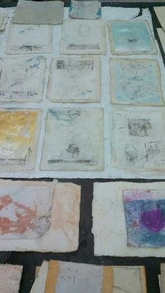 The beginnings of small works, inspired by tantra miniatures