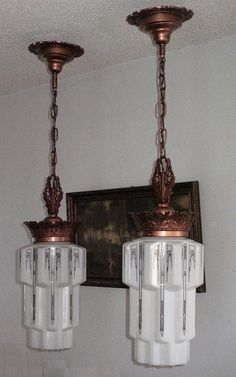 Vintage Art Deco Lighting Fixtures by VintageLights.com, via Flickr