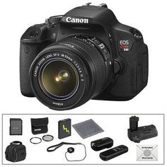 Canon   EOS Rebel T4i Digital Camera with 18-55mm Lens & Deluxe Accessory Kit