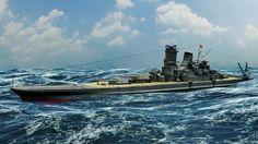 japanese battleship musashi 3d model fbx ma mb 3dm 1