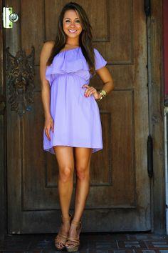 Unconditional Love One Shoulder Dress: Purple