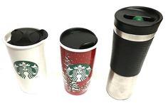 3 Starbucks Collectable Mugs Roller Ball Stainless - Holliday 2016 - Logo 2014  #Starbucks