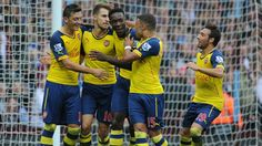 Goals from Mesut Ozil, Danny Welbeck and an own goal from Aly Cissokho gives Arsenal their first away win of the season