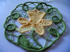 Romanian Point Lace coaster