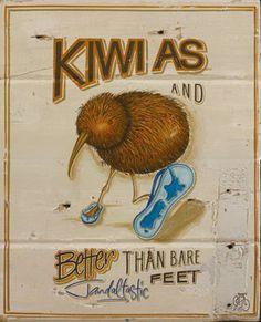 Kiwi As by Jason Kelly for Sale - New Zealand Art Prints