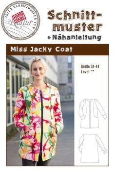 Mantel Schnittmuster (hier auch kostenlos erhältlich http://www.handmadekultur.de/schnittmuster/kurzmantel-schnittmuster )